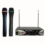 Microfono Inalambrico De Mano Vhf Doble Multiuso Audio