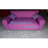 Sofa Modelo Simpson 3cp En Tela Pana Trama-lino-mojito