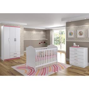 Dormitório Infantil 3 Peças - Henn Açaí Bm051 Cor Flex