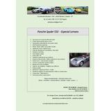 Replicas Porsche Spyder 550 Lemans Edição Limitada