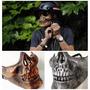 Máscara Caveira Skull Meia Face Airsoft Paintball Moto