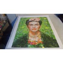 Fryda Y La Selva Pintura Impresion Digital En Lona 50 X 60