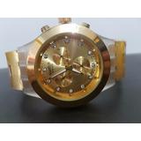 Reloj Swatch Dorado Acero Borde Crilico