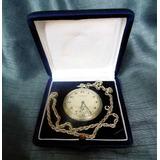 Reloj Bolsillo Vintage Cronobloc Platinine En Caja Original