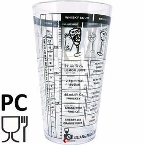 Copo Medidor Policarbonato Receitas Bebibas Drink 400ml Bar