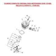 Repuesto Motosierra Echo Cs-600 Cilindro Completo Original