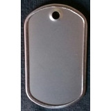 Dog Tag Acero Inoxidable Placa Militar