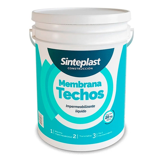 Membrana Liquida Techos 20kg Impermeabilizante Sinteplast