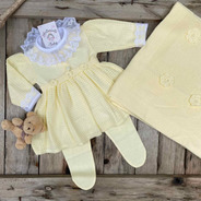 Saída De Maternidade Solange Amarelo