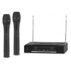 Kit De 2 Microfonos Inalambricos Full Energy Vhf