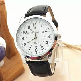 Relógios De Pulso De Quartzo Elegante Pulseira De Couro Anal
