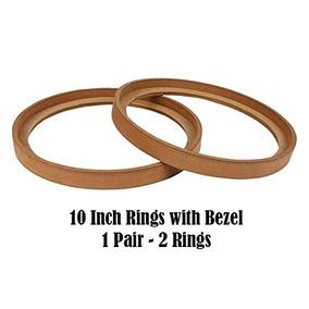 1 Pair 10 Ring-10bz Mdf Speaker Ring Recess With Bezel Moun