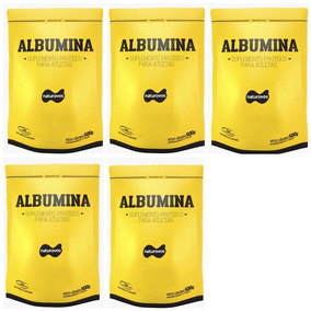 5x Albumina 500g Naturovos Total 2,5kg (sabores) Val 01/2020