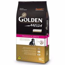 Ração Golden Mega Cães Filhotes Raças Grandes 15 Kg +brinde