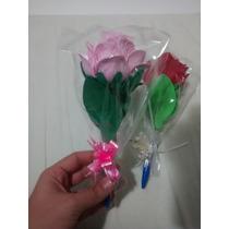10 Lembrancinhas Ponteiras De Rosa De Eva Com Caneta