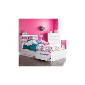 Cama Doble Con 3 Cajones, Perfecta Para El Dormitorio, Con L