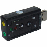 Placa De Som Usb 7.1 Canais 3d Adaptador Pc Ps3 Notebook