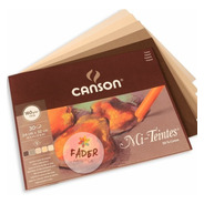Block Canson Mi Teintes Papel Algodon 30 Hojas 24x32 Calidos