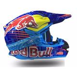 Capacete Ktm Red Bull Enduro Redbull Motocross Trilha Tam 58