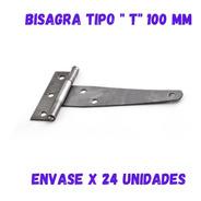 Bisagras Tipo T De Hierro Pulido 4 Pulgadas 10cm X 24 Unid