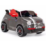 Auto A Bateria Fiat 500 S Perego Gris Import Creciendo