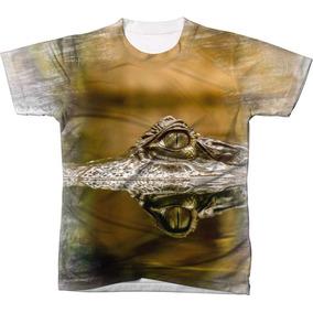 4f7924d70e2fc Camiseta Estampa Jacaré - Camisetas Manga Curta no Mercado Livre Brasil
