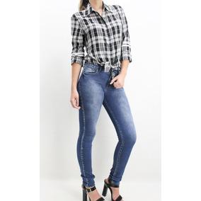 Calça Skinny Jeans Zíper Atrás Marca Revanche