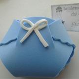 Lembrancinha Chá Bebê Fralda Maternidade Convite 30 Unid