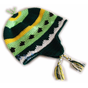 Gorro Crochet Adulto Lana Orejeras Rock Dog