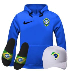 Casaco Da Seleção Cbf - Moletom Masculinas Azul no Mercado Livre Brasil 307abf206ea98