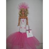 Vestido De Fiesta - Artesanal - Para Muñeca Barbie.