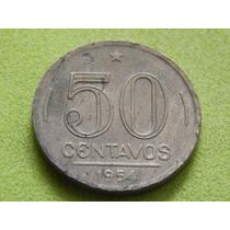 Moeda De 50 Centavos 1954 Presidente Dutra Brasil (ref 2088)