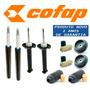 Kit 4 Amortecedor Gol G3 G4 - Cofap + Kit + Coxim Axios