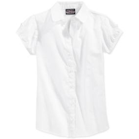Nautica Camisa Blanca Estilo Uniforme Niña Talla 6 Años