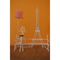 Original Centro De Mesa Nena Con Torre Eiffel