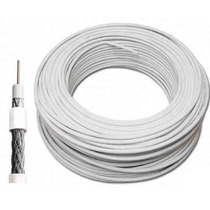 Fio Coaxial Profissional Rg6 100 Mts