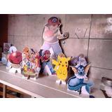 Pokemon Kit Decoração De Festa 10 Displays De Mesa Mdf