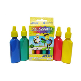 Cola Colorida Acrilex Caixa Com 4 Unidades 23 G Cada 78