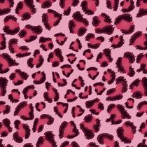 Papel De Parede 3d Adesivo Estampa Onça Rosa