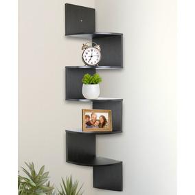 estante 5 niveles esquinero de pared funcional y atractivo - Estantes De Pared