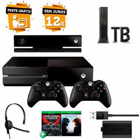 Xbox One 1tb Kinect 2 Controles 2 Jogos 2 Baterias 2 Headset