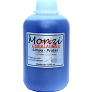 Liquido Limpa Prata Monzi 1 Litro Gratis Flanela Magica