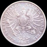 Mg* Alemania 1 Thaler 1867 Prusia Moneda Grande De Plata