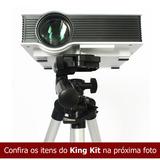 King Kit: Super Datashow Data Show Projetor Hdmi Av +8 Itens