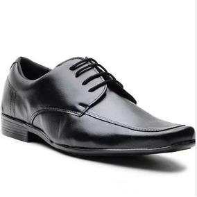 Sapato Social Masculino Couro Ecológico Amarra Frete Grátis