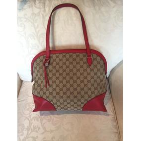 6b71d0d543846 Bolsas Originales Gucci Bamboo Shopper - Bolsas Rojo en Mercado ...