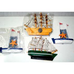 Barcos Con Iman De Madera Souvenirs Deco-ofertas