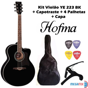 Kit Violão Ye 223 Nt Hofma By Eagle + Capa + Palhetas + Capo
