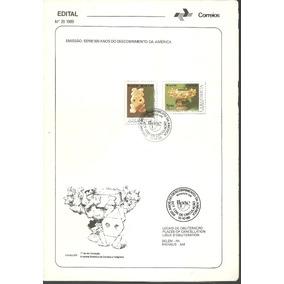 Edital Correios N.20 1989 Serie 500 Anos Do Descobrimento Am