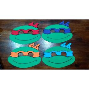 Antifaces De Las Tortugas Ninja En Goma Eva